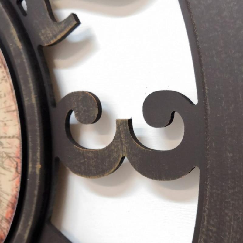 Настенные часы GALAXY DA-004 коричневые