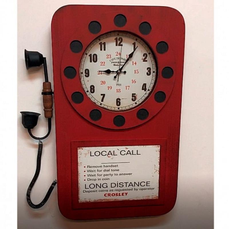 Настенные часы GALAXY DA-006 красные