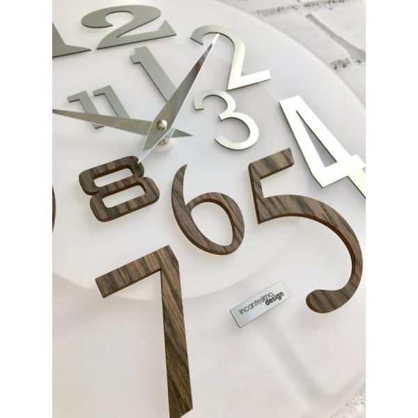 Настенные часы Incantesimo Design Модель 036 W Free (Венге/Белый металлик)