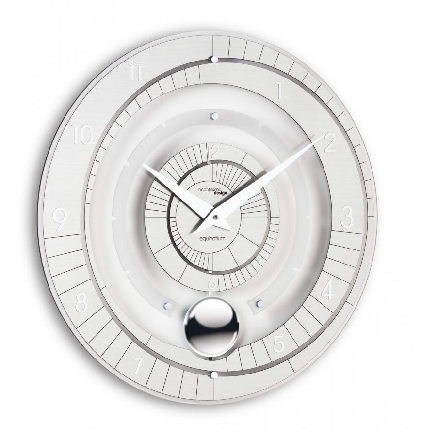 Настенные часы с маятником Incantesimo Design 223 M Equinotium Pendulum (Серебристый металлик)