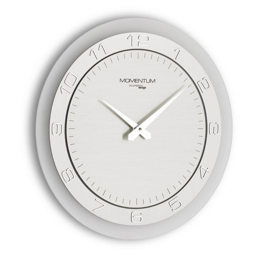 Настенные часы Incantesimo Design 136 M Momentum (Серебристый металлик)