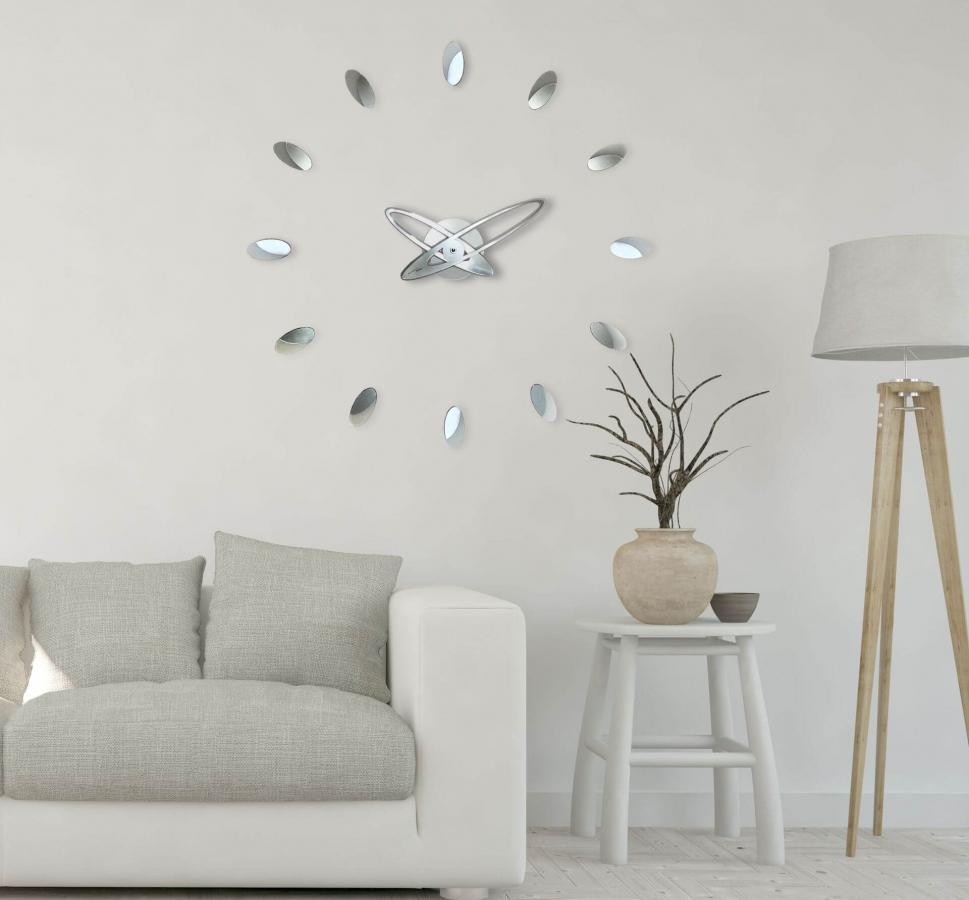 Настенные модульные часы Incantesimo Design 203 M Temporum (Серебристый металлик)