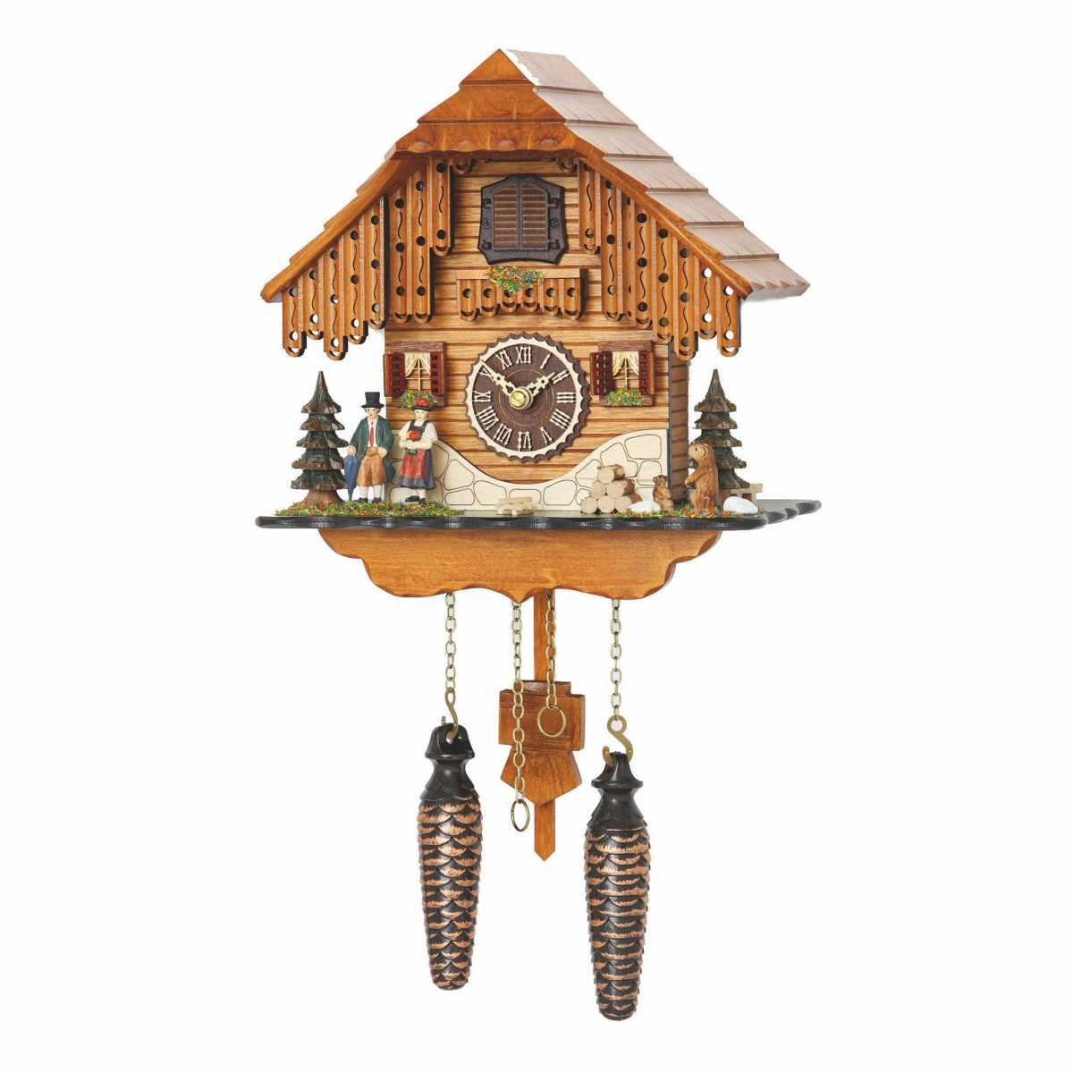 Кварцевые настенные часы с кукушкой + 12 мелодий TOMAS STERN 5074