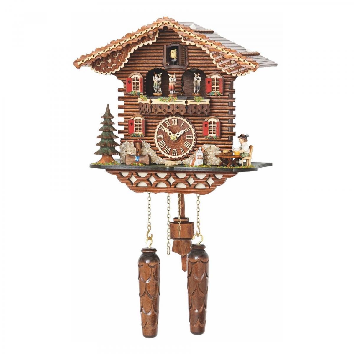 Кварцевые настенные часы с кукушкой + 12 мелодий и танцоры TOMAS STERN 5075