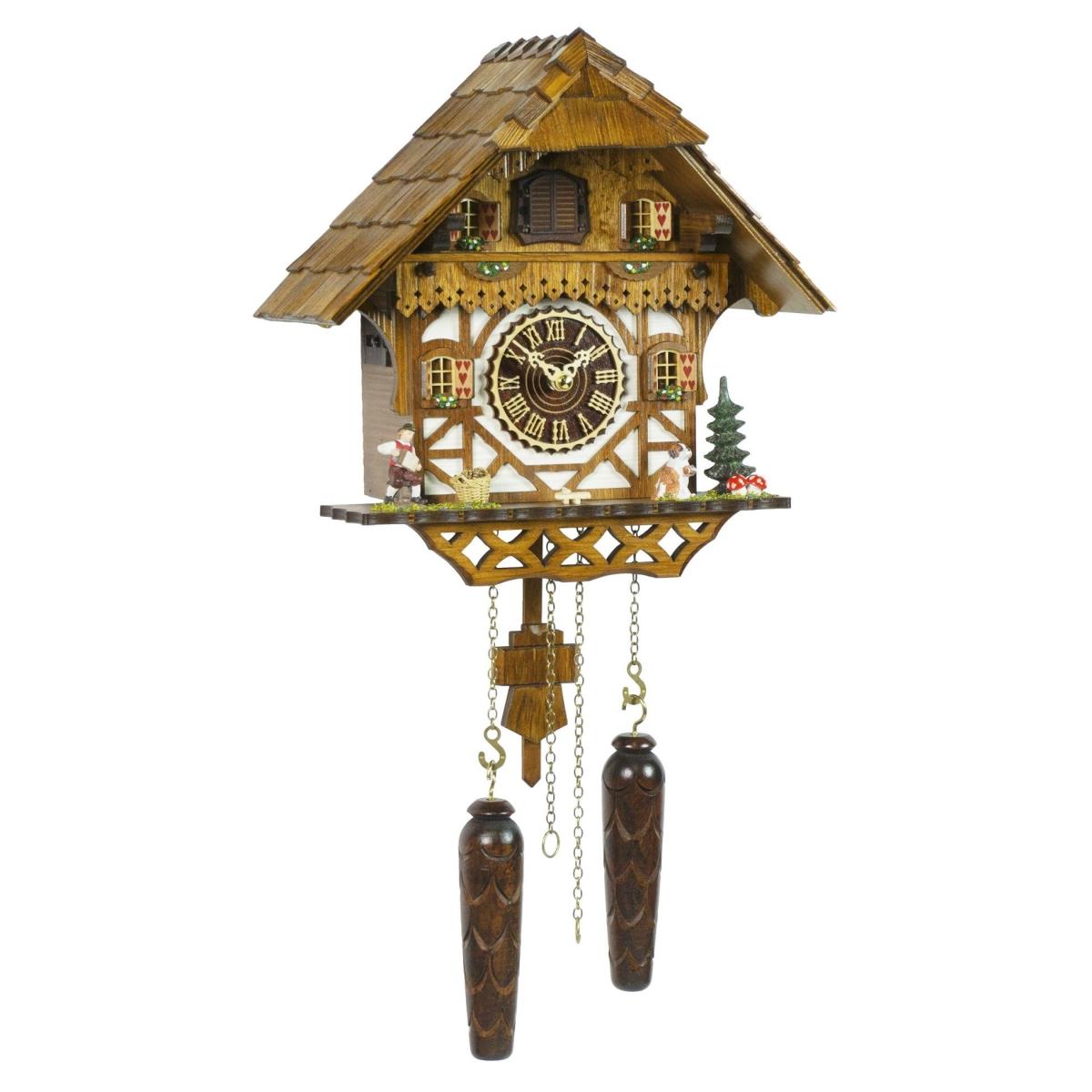 Кварцевые настенные часы с кукушкой + 12 мелодий TOMAS STERN 5078