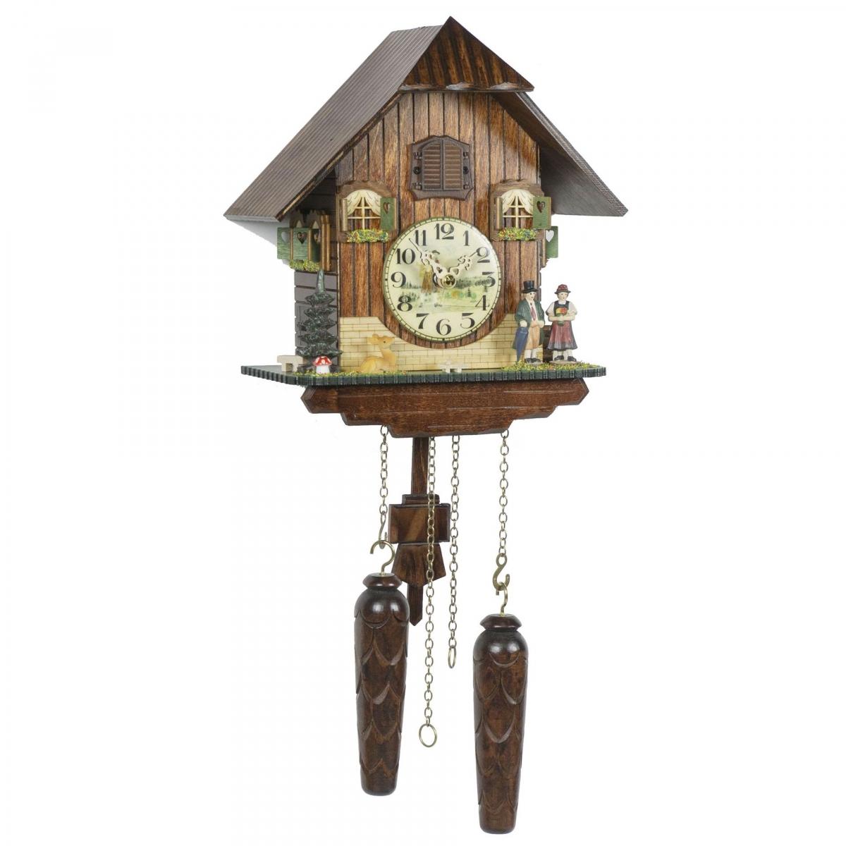 Кварцевые настенные часы с кукушкой + 12 мелодий TOMAS STERN 5079