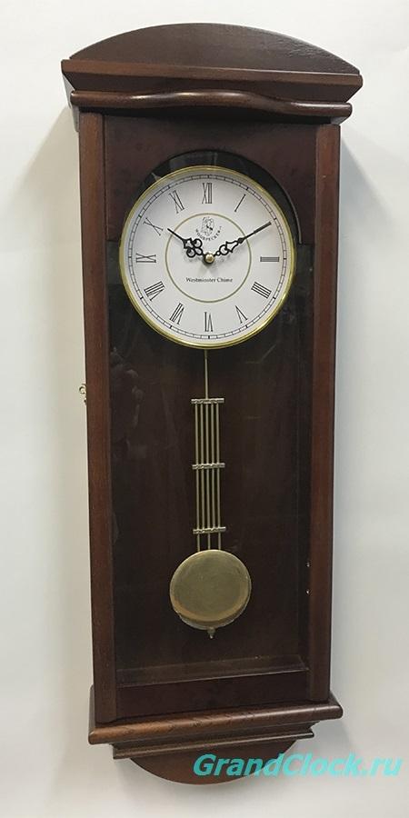 Настенные часы с маятником, мелодией  и боем  WOODPECKER 9224W1 (M) (07)