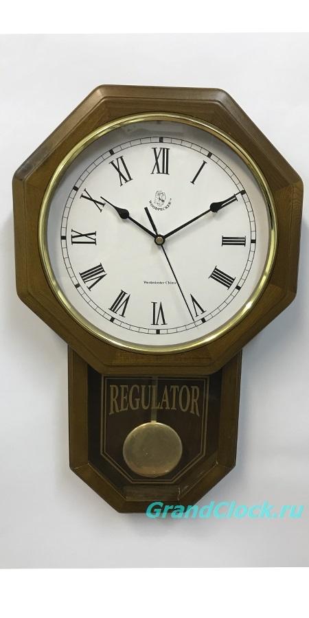 Настенные часы с маятником и боем  WOODPECKER 9305 (06)