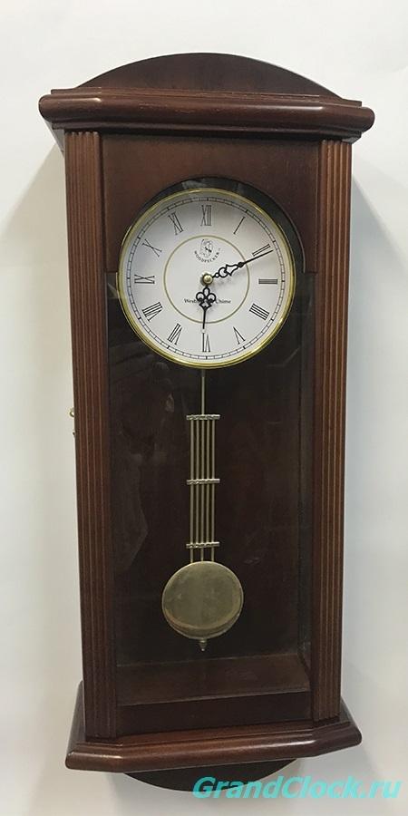 Настенные часы с маятником, мелодией  и боем  WOODPECKER 9241W1 (M) (07)