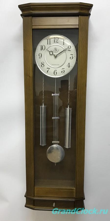 Настенные часы с маятником, мелодией  и боем  WOODPECKER 9328W (M) (06)