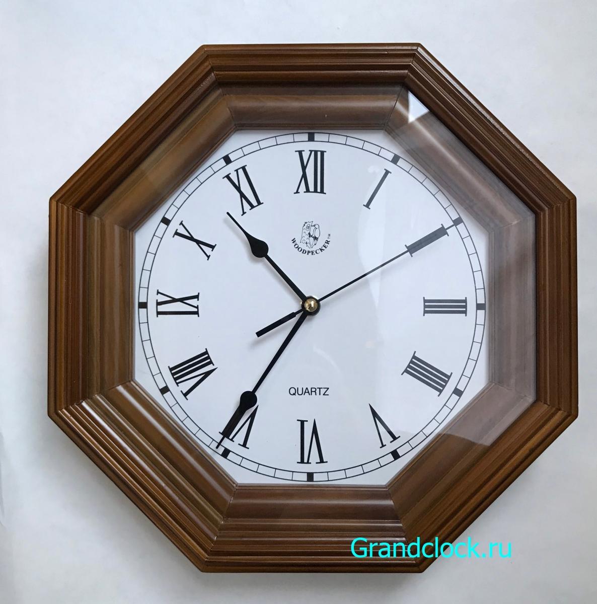 Настенные часы WOODPECKER в деревянном корпусе 7013 (06)