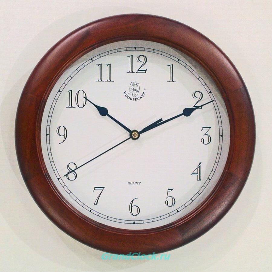 Настенные часы WOODPECKER в деревянном корпусе 7143W (07)