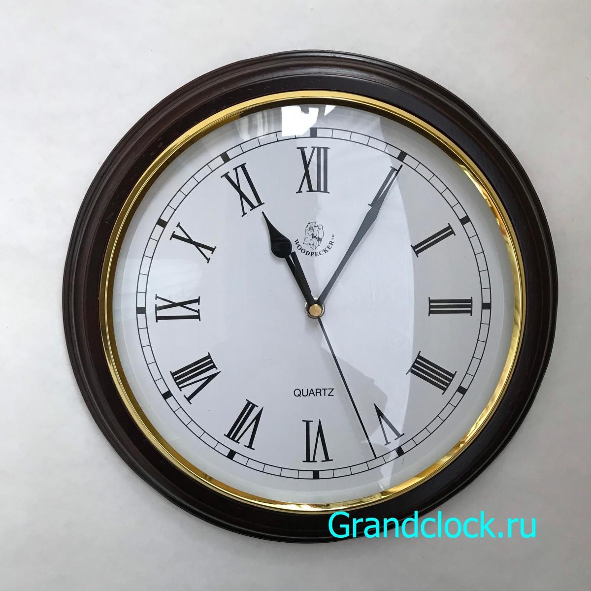 Настенные часы WOODPECKER в деревянном корпусе 7190N (09)