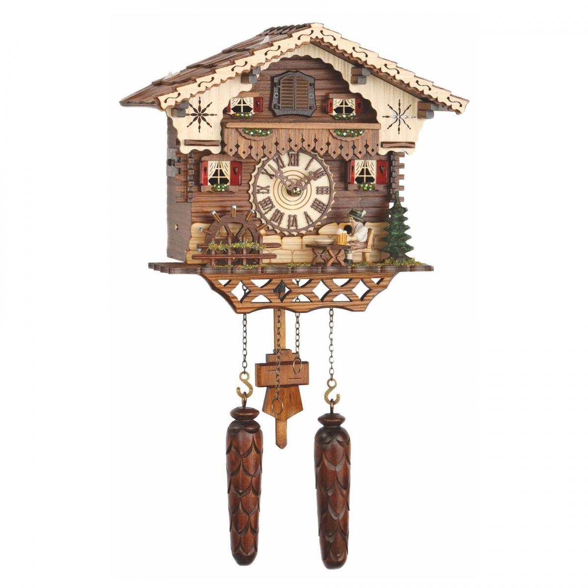 Кварцевые настенные часы с кукушкой + 12 мелодий и движение TOMAS STERN 5069