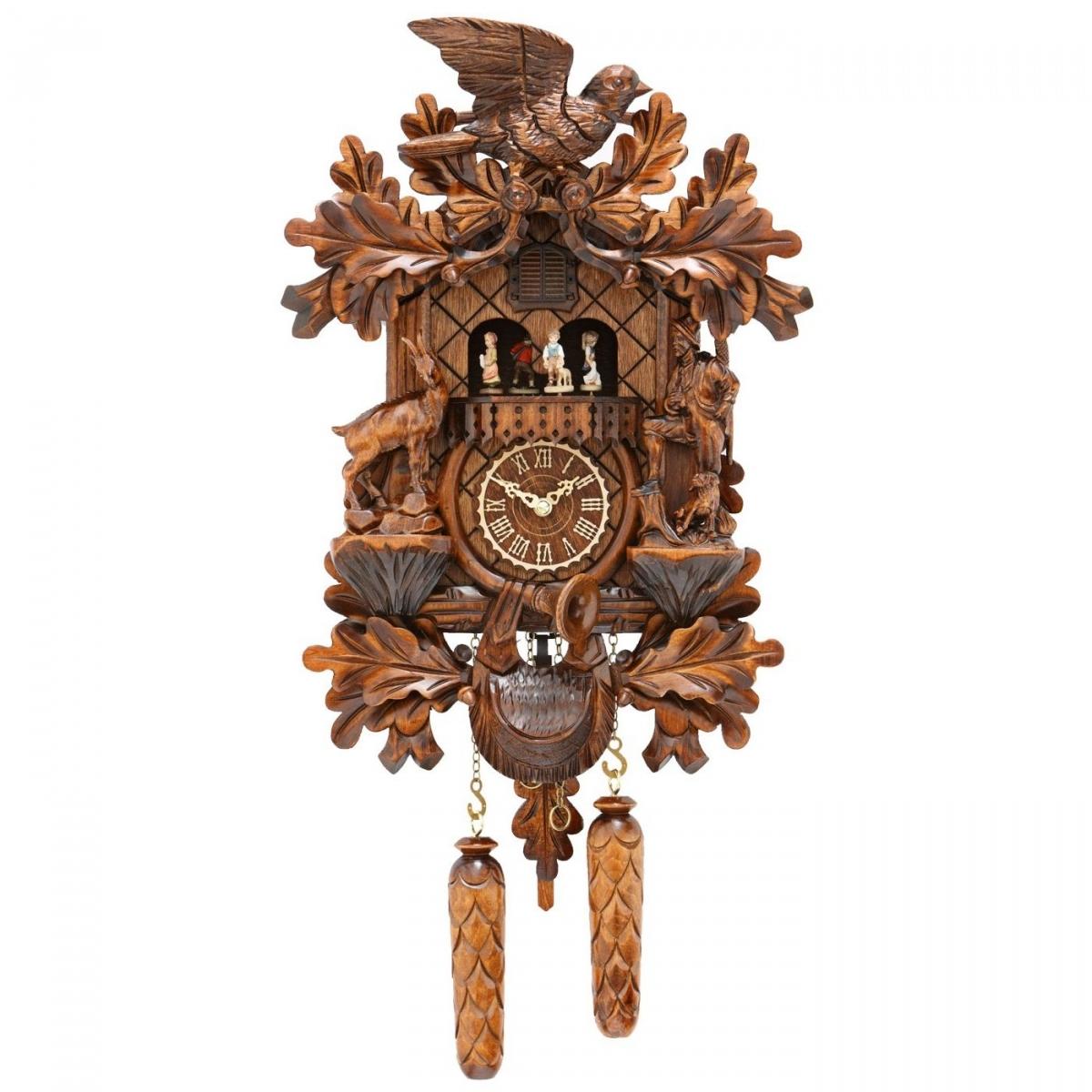 Кварцевые настенные часы с кукушкой + 12 мелодий и танцоры TOMAS STERN 5083