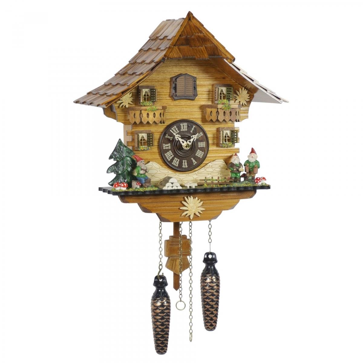 Кварцевые настенные часы с кукушкой и мелодией  TOMAS STERN 5080
