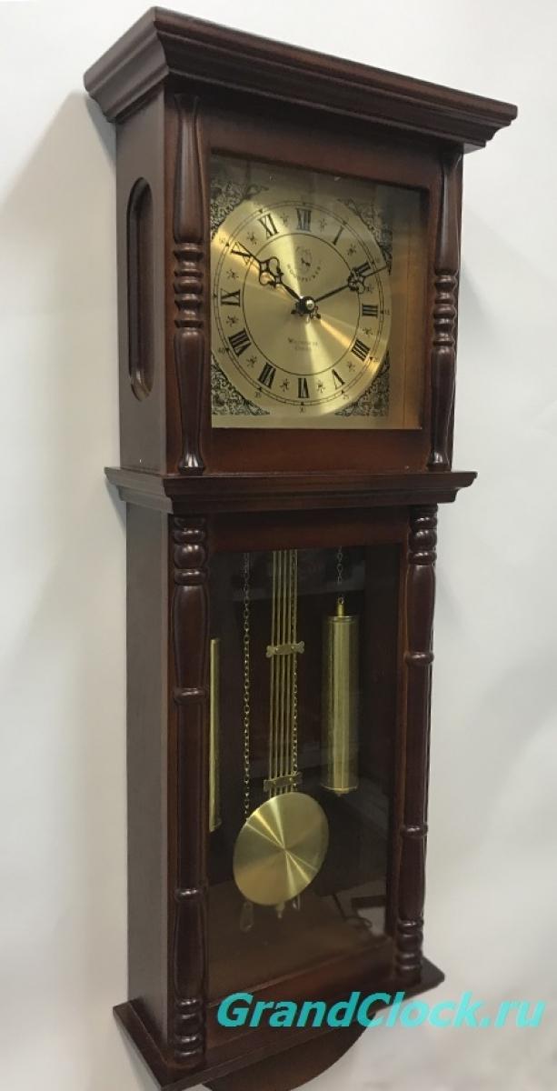 Настенные часы с маятником и мелодией WOODPECKER 9416 (M) (07)