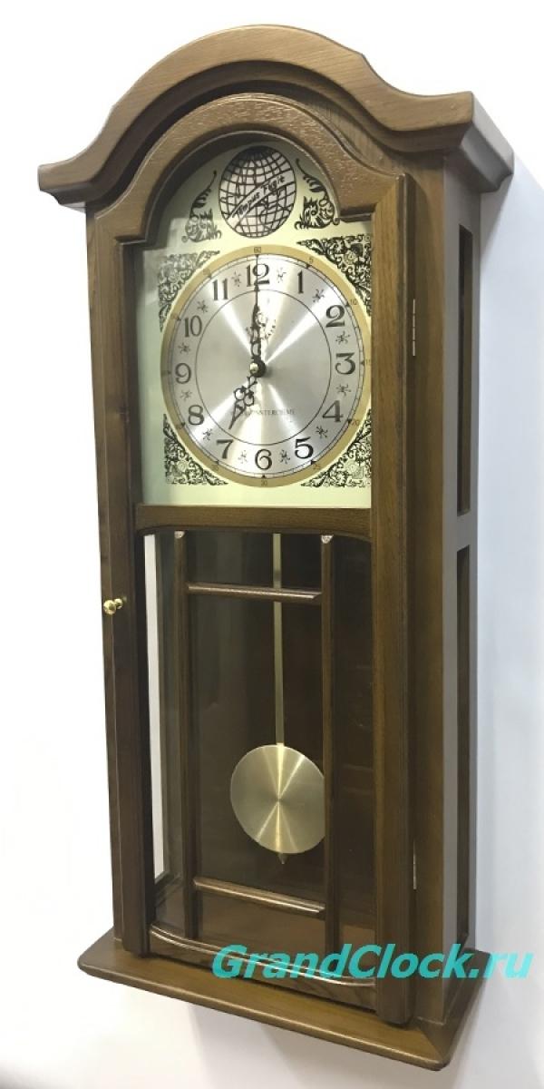 Настенные часы с маятником, мелодией  и боем  WOODPECKER 9347L(M) (07)
