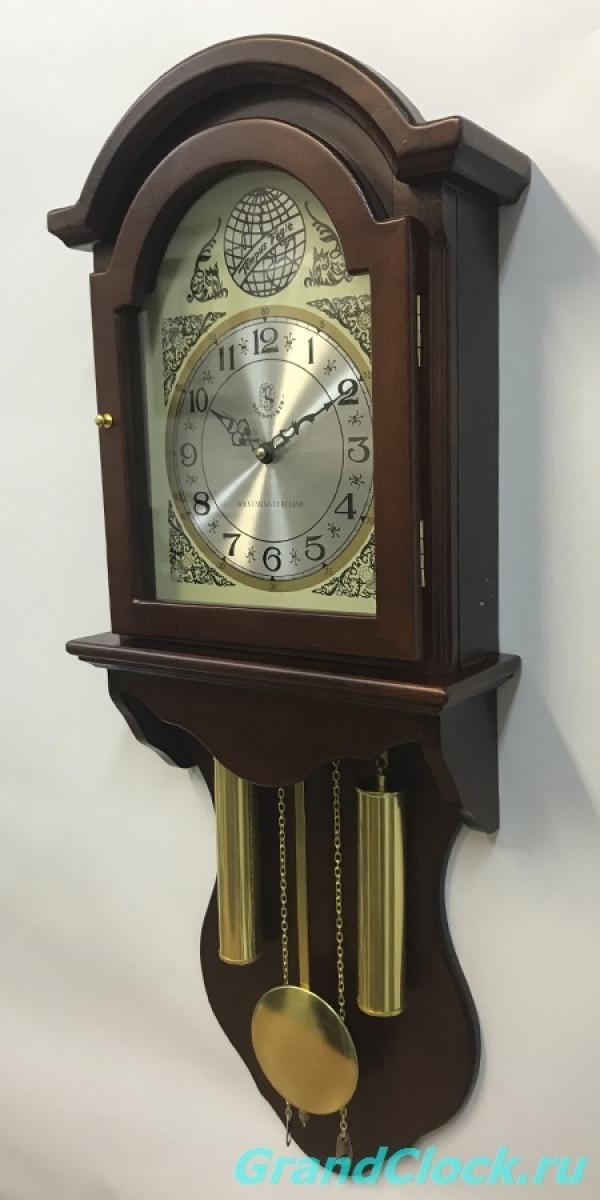 Настенные часы с маятником, мелодией  и боем  WOODPECKER 9358W(M) (07)