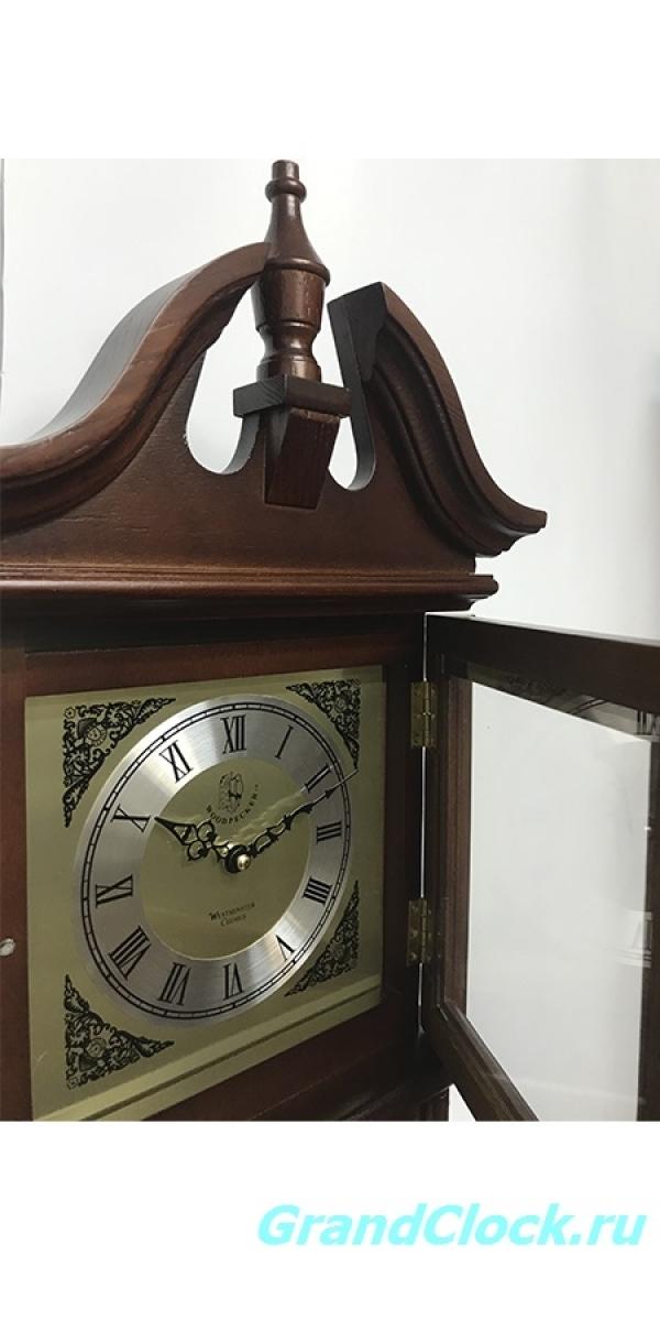 Настенные часы с маятником, мелодией  и боем  WOODPECKER 9392BS (M) (07)
