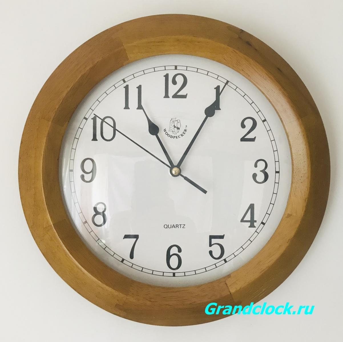 Настенные часы WOODPECKER в деревянном корпусе 7031 (06)