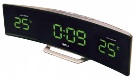 Настольные часы с будильником UNIEL BV-415GKS