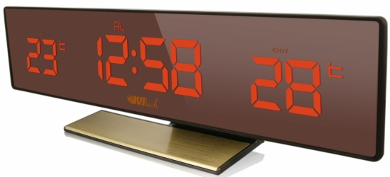 Настольные часы с будильником UNIEL BV-43BrY