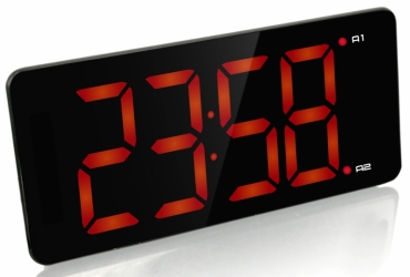 Настольные часы с будильником UNIEL BV-475R