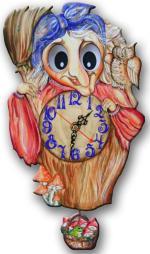 """Часы настенные """"Баба-Яга"""""""