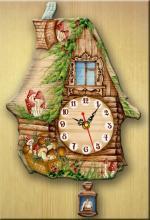 """Часы настенные """"Избушка с грибами"""""""