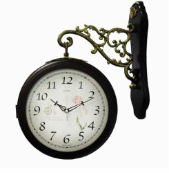 Настенные двухсторонние часы B&S HR7007B