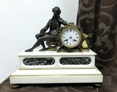 Старинные каминные часы Japy Freres