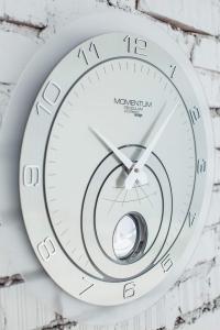 Настенные часы с маятником Incantesimo Design 139 M Momentum Pendulum (Серебристый металлик)