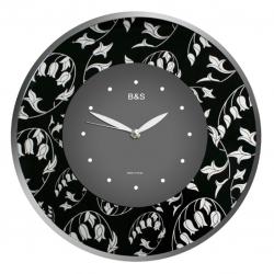 Настенные часы B&S SHC-300GF(BL)