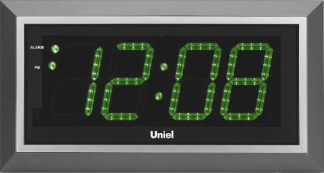 Настенные часы с будильником UNIEL BV-11GSL
