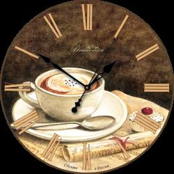 """Настенные часы из стекла Династия 01-007 """"Кофе"""""""
