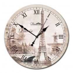 """Настенные часы из стекла Династия 01-010 """"Осенний Париж """""""