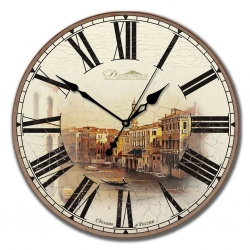 """Настенные часы из дерева Династия 02-002 """"Старинная Венеция"""""""