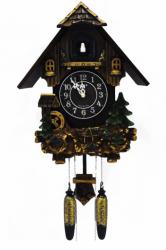 Настенные часы с кукушкой Sinix 612 Green