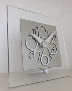 Настольные часы Incantesimo Design 116 ML Metropolis (Серебристый металлик)